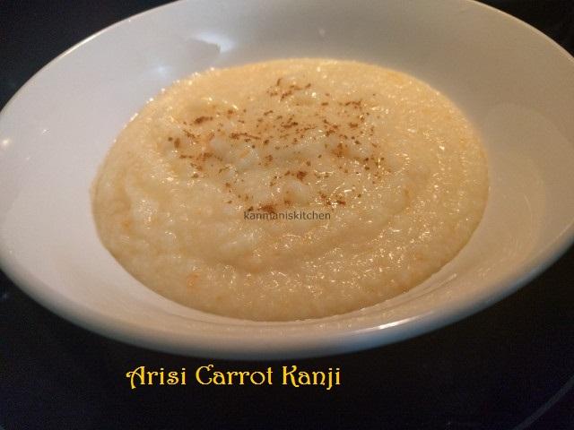 Arisi Paruppu Carrot Kanji