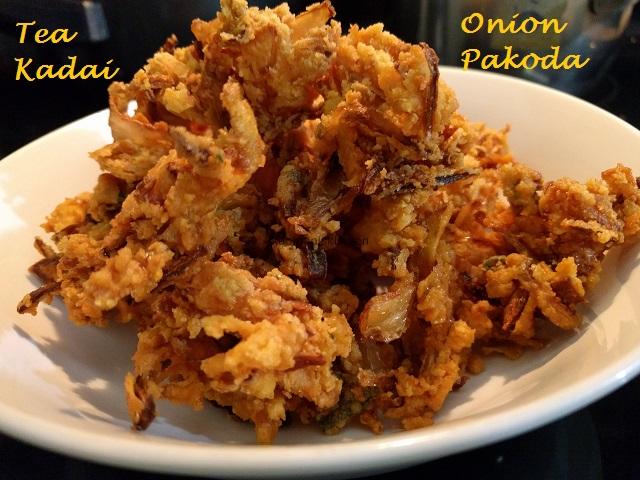Onion Pakoda Tea Kadai Kanmani S Kitchen