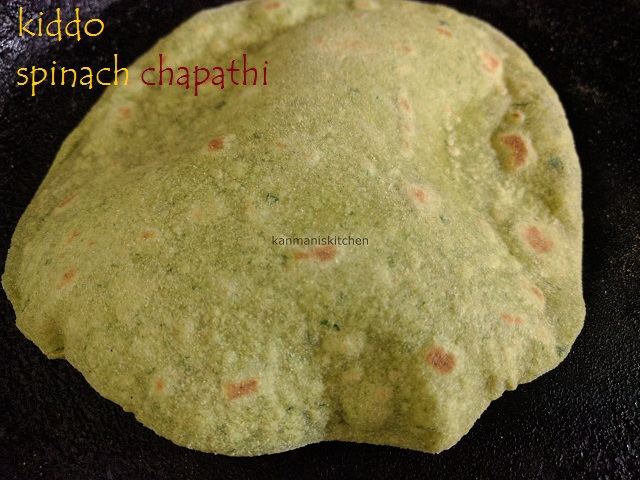 Kiddo Spinach Chapathi