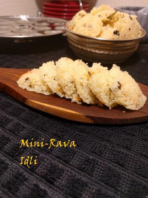 Mini-Rava Idli