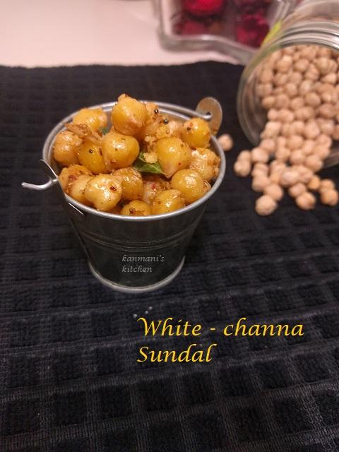White Channa Sundal