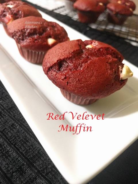 Red Velvet cake mix Muffins