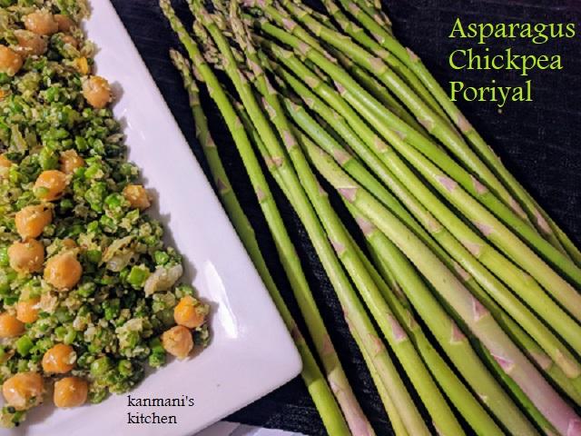 Asparagus-Chickpea Poriyal