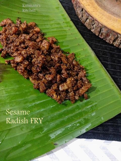 Sesame Radish Fry