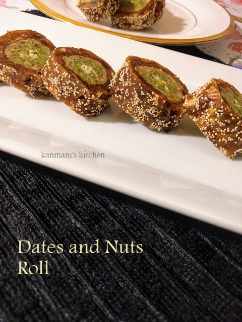 Dates and Nuts Roll