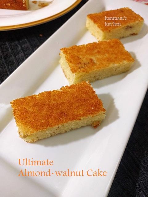 ULTIMATE Almond-walnut cake