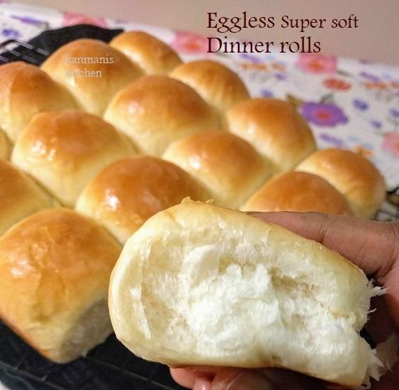Eggless Dinner Rolls