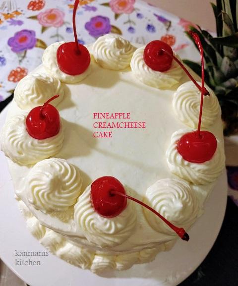 Pineapple Cream cheese Cake