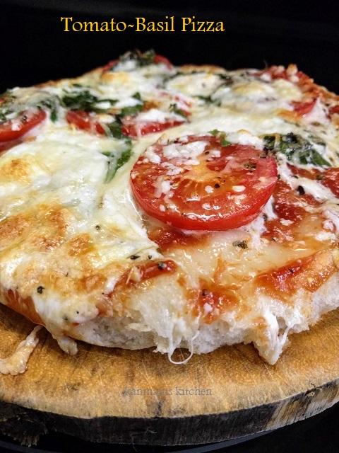 Tomato Fresh Basil Pizza