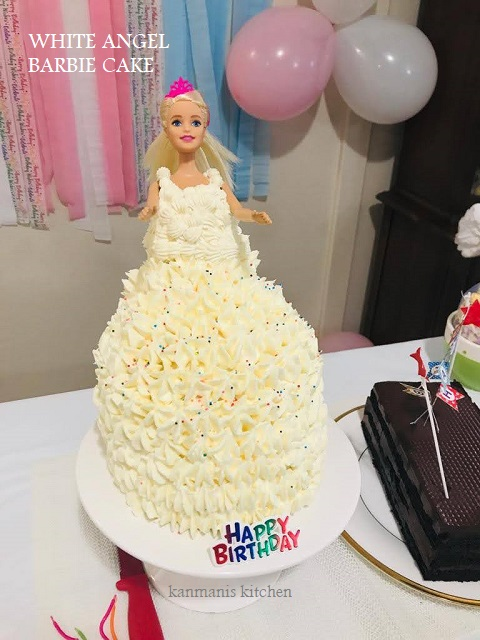 White angel Barbie Cake